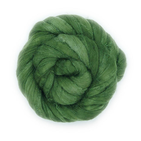 Spinach Color;<br>Polwarth-Silk Fiber