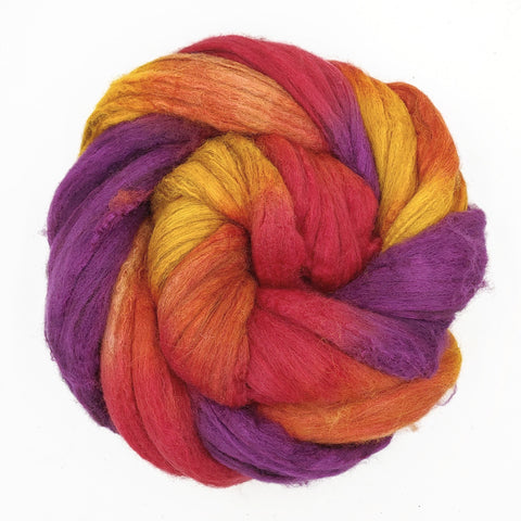 Sunset Colorway;<br>Merino-Yak-Silk Fiber
