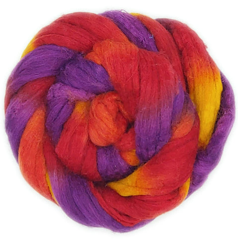Sunset Colorway;<br>Mixed Merino-Silk Fiber
