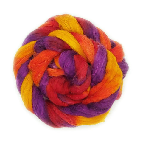 Sunset Colorway;<br>Polwarth-Silk Fiber