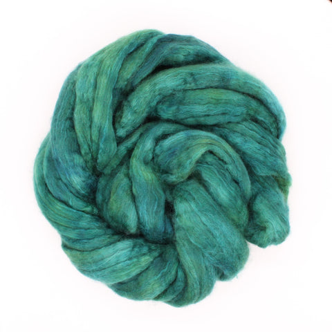 Teal Color;<br>BFL-Silk Fiber
