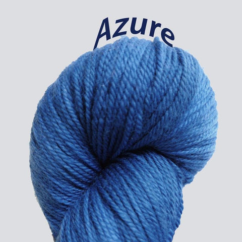 Azure Color<br>Temptation Yarn<br>Sock Weight<br>Merino-Cashmere-Nylon<br>70-20-10