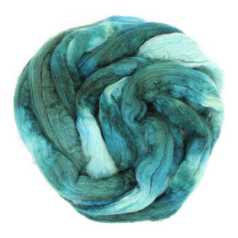 The Gorge Colorway;<br>BFL-Silk Fiber