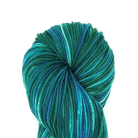 The Gorge Colorway;<br>Tahoma Yarn<br>DK-Weight;<br>100 % SW Merino;<br>4 oz Skeins