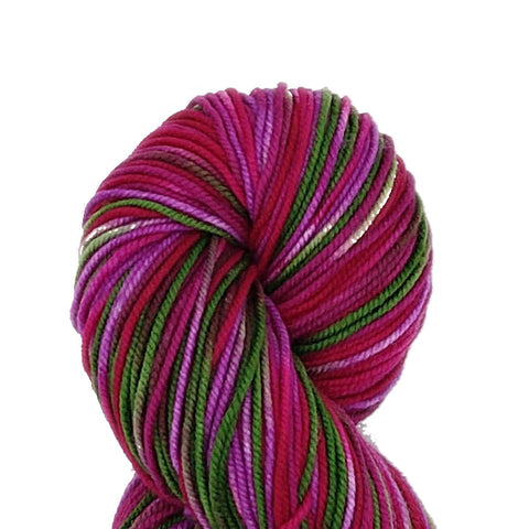 Thistle Colorway;<br>Tahoma Yarn;<br>DK-Weight;<br>100 % SW Merino<br>4 oz Skeins