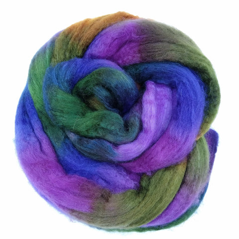 Tigard Colorway;<br> BFL-Silk 75-25 Fiber