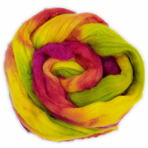 Tulips Colorway;<br> BFL-Silk 75-25 Fiber