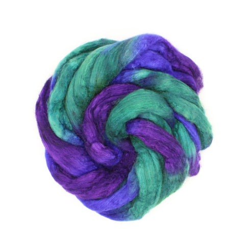 Twist Colorway;<br> BFL-Silk 75-25 Fiber