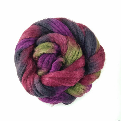 Vino Colorway;<br> BFL-Silk 75-25 Fiber