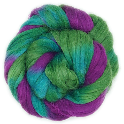 Vino Colorway;<br>Mixed Merino-Silk Fiber