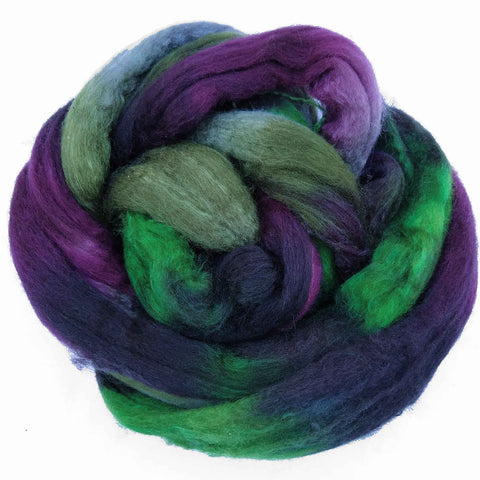 Vinyard Colorway;<br> BFL-Silk 75-25 Fiber
