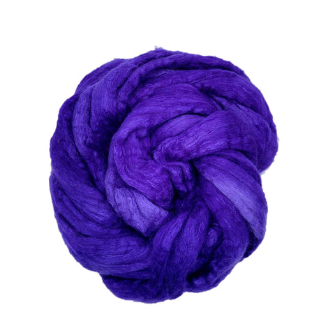 Violet Color;<br> BFL-Silk 75-25 Fiber