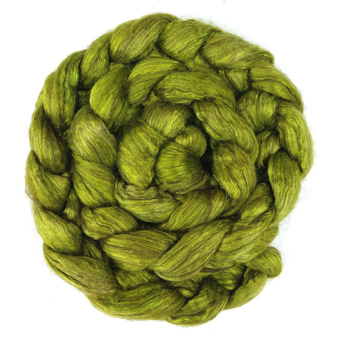 Chartreuse Color; <br> Yak-Silk 50-50 Fiber
