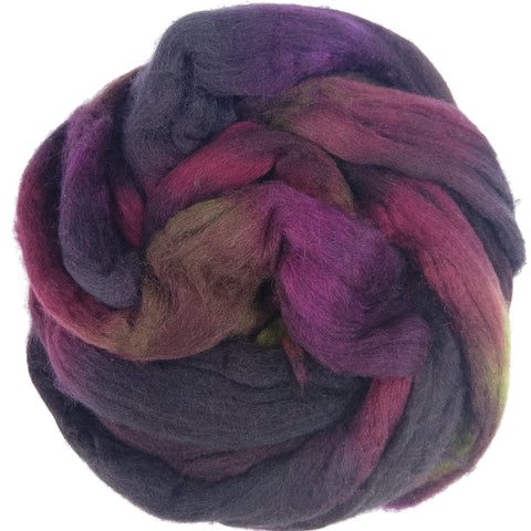 Pinot Noir Colorway; <br> Mixed Merino-Silk Fiber