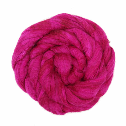 Raspberry Color;<br>Merino-Yak-Silk Fiber