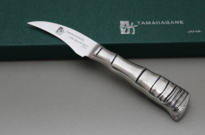 Tamahagane Bamboo 3-Layered Stainless Peeling Knife 70mm