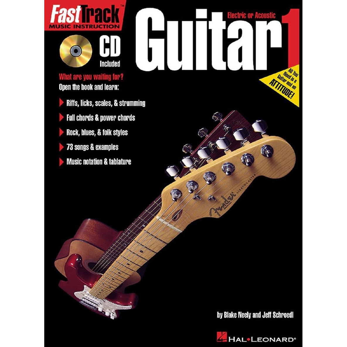 Hal Leonard FastTrack Guitar Method 1 Book