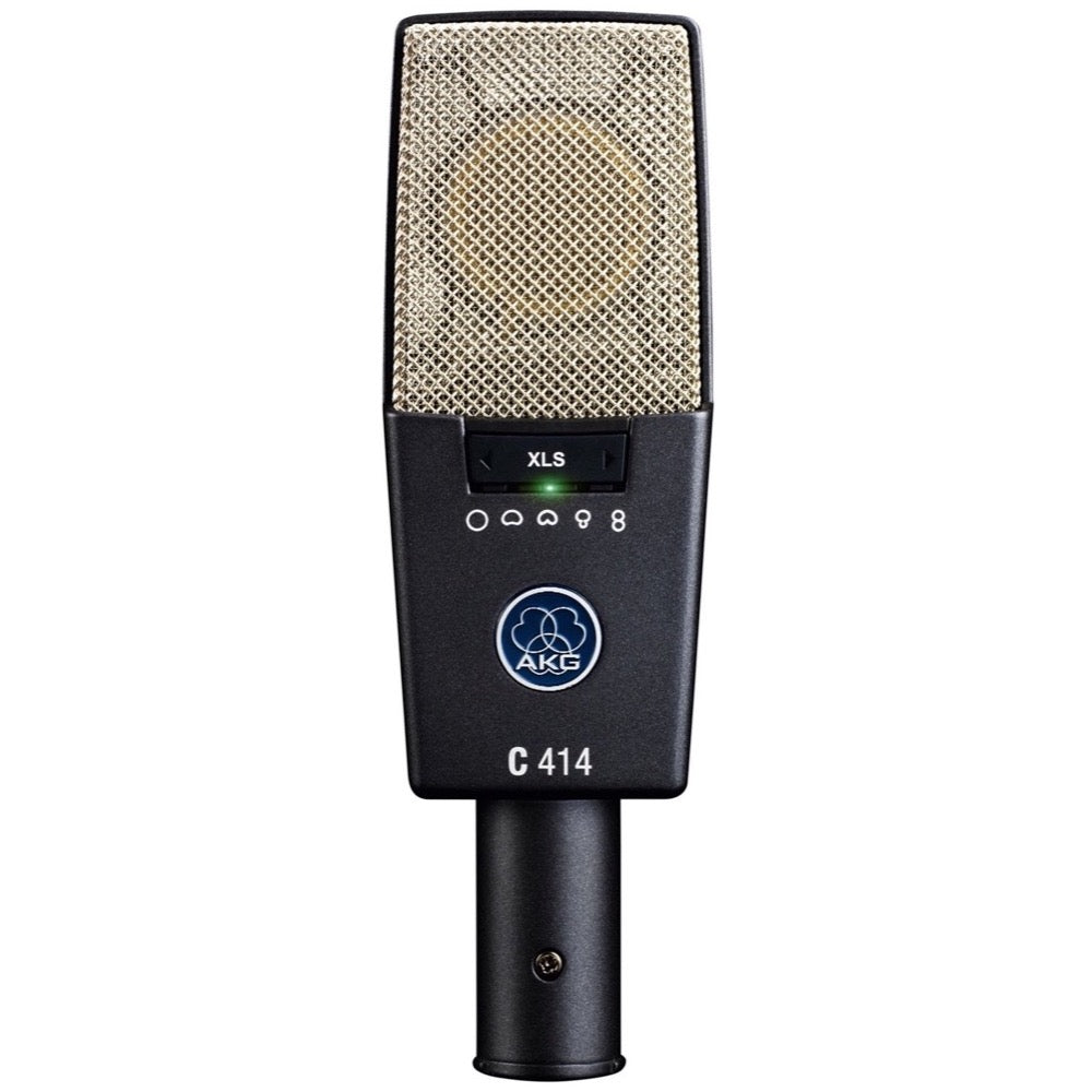 AKG C414 XLS 9-Pattern Condenser Microphone, Single