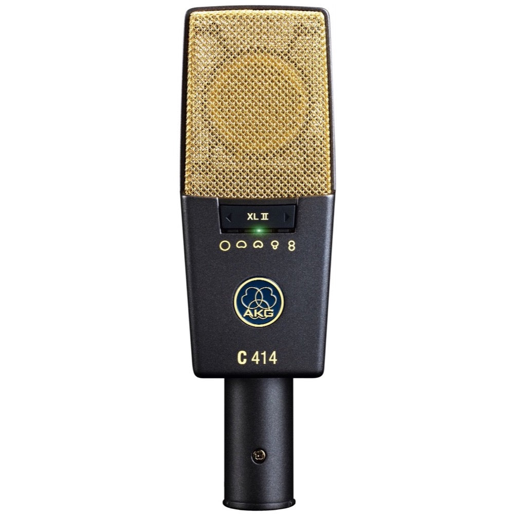 AKG C414 XL II 9-Pattern Condenser Microphone, Single
