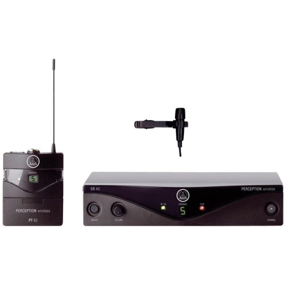 AKG WMS45 Perception Wireless Presenter Lavalier Microphone System, Band A (530 - 559 MHz)