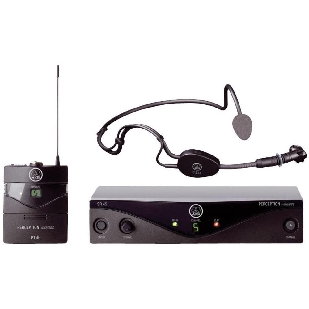 AKG WMS45 Perception Wireless Sports Headset System, Band A (500 - 560 MHz)
