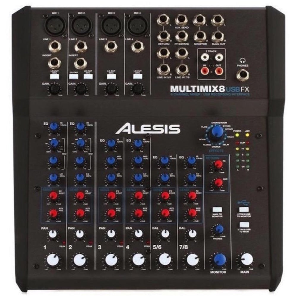 Alesis MultiMix 8 USB FX 8-Channel Mixer with Effects