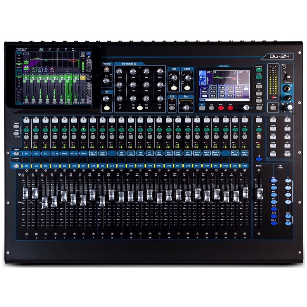 Allen and Heath Qu-24C Digital Mixer, 24-Channel