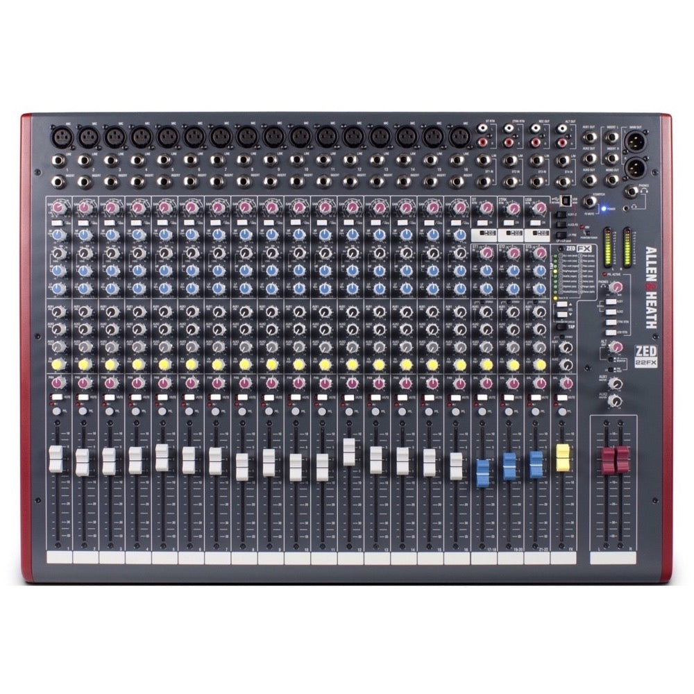 Allen and Heath ZED-22FX 22-Channel Mixer with USB Interface