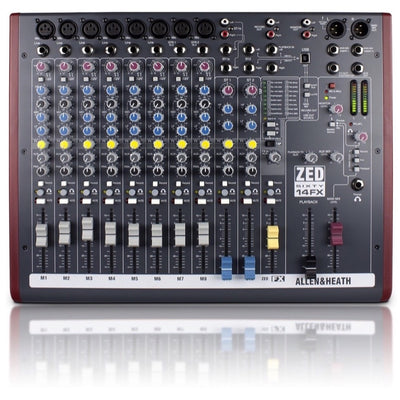 Allen and Heath ZED 60-14FX Compact Mixer, 14-Channel