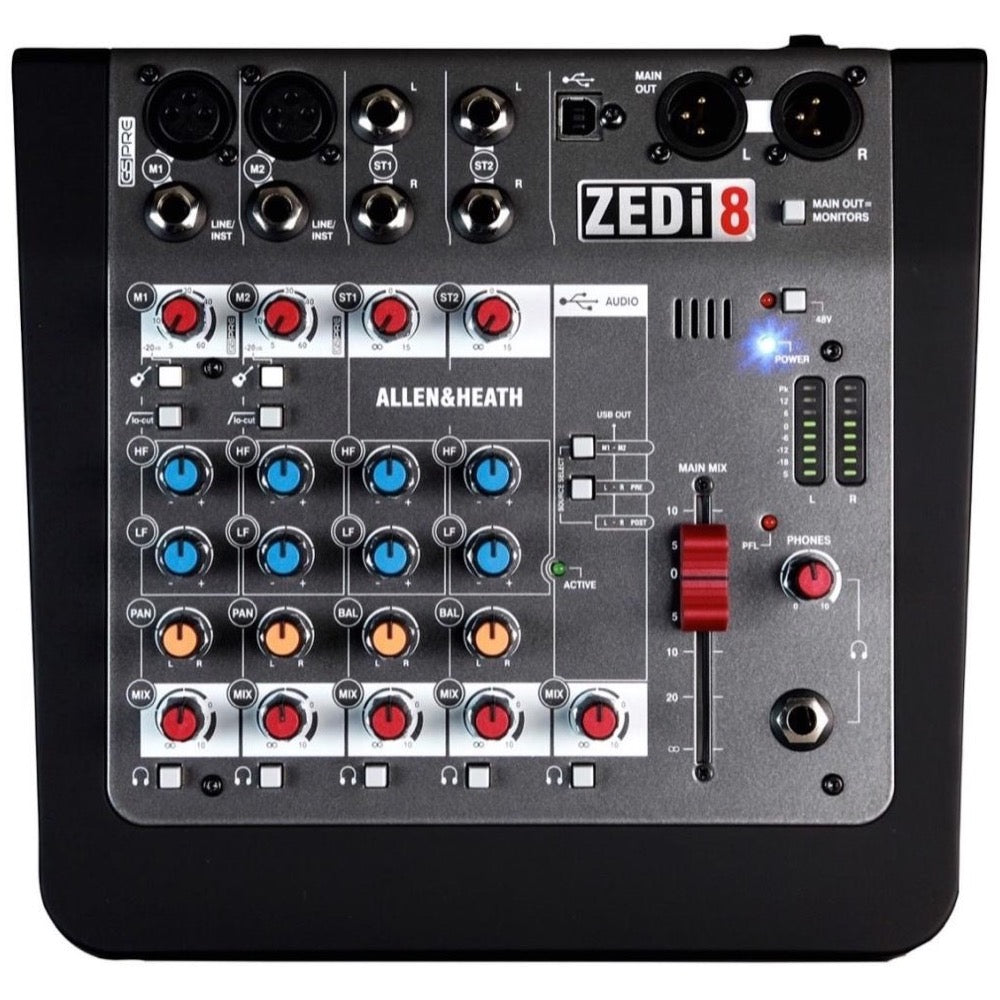 Allen and Heath ZEDi-8 Compact USB Mixer, 6-Channel