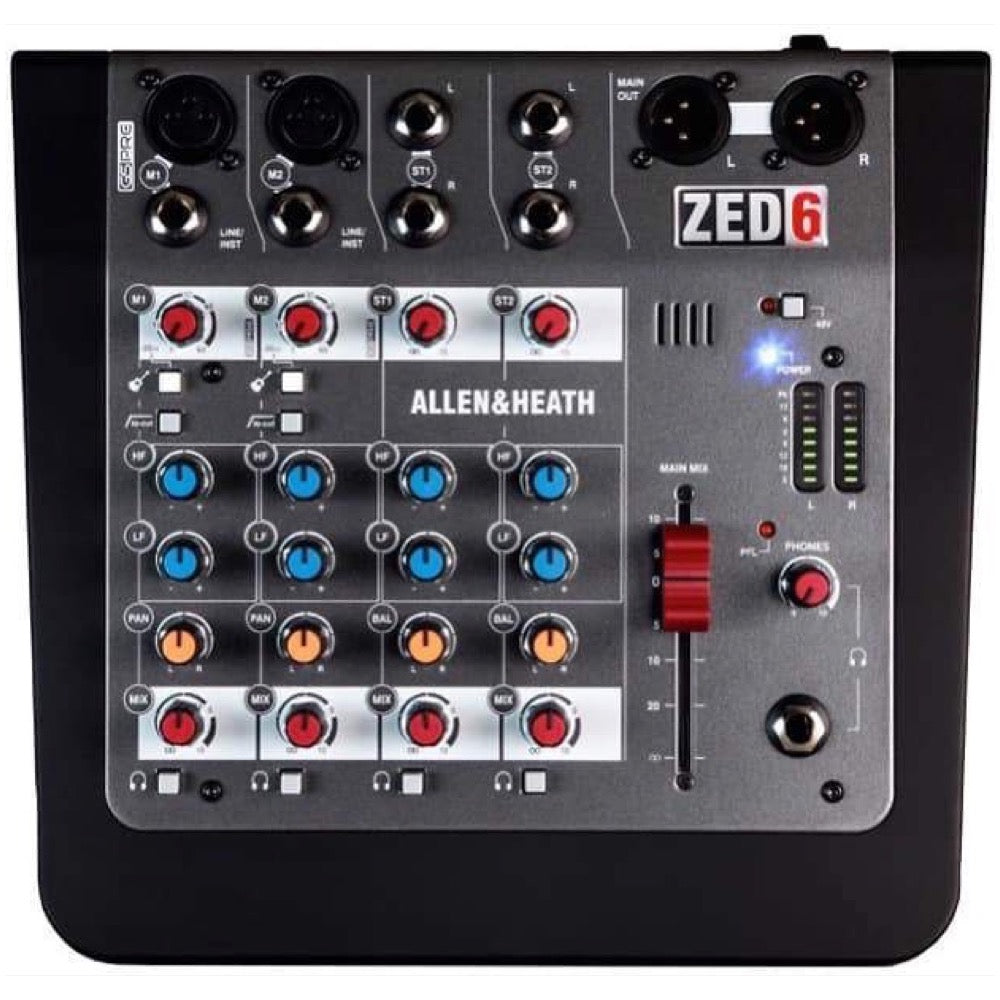 Allen and Heath Zed-6 Compact Mixer, 6-Channel