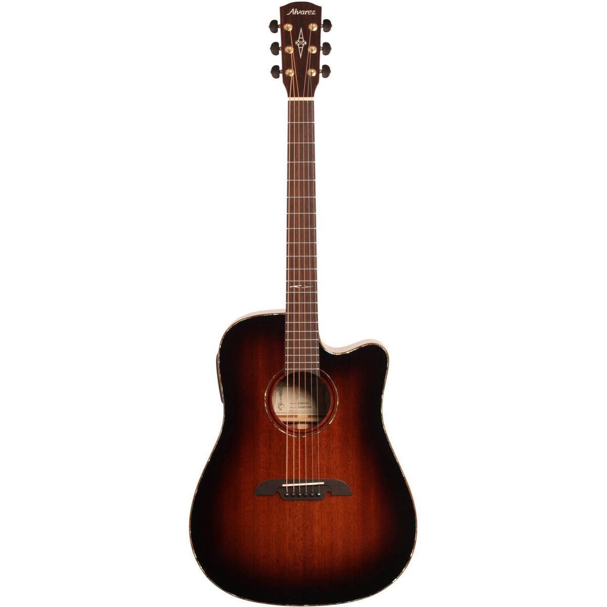 Alvarez MDA66CESHB Masterworks Dreadnought Acoustic-Electric Guitar (with Case), Sunburst