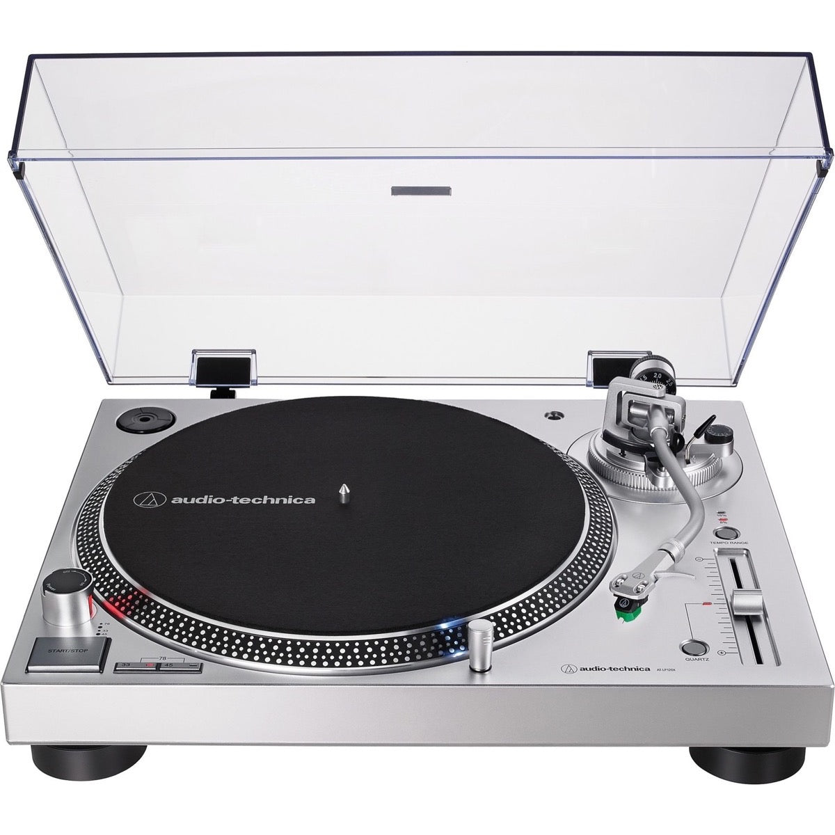 Audio-Technica AT-LP120XUSB Direct-Drive Turntable, Silver