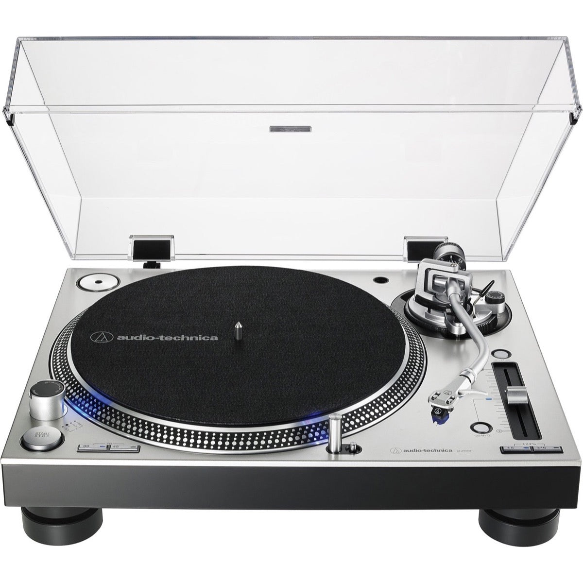 Audio-Technica AT-LP140XP Direct-Drive Turntable, Silver