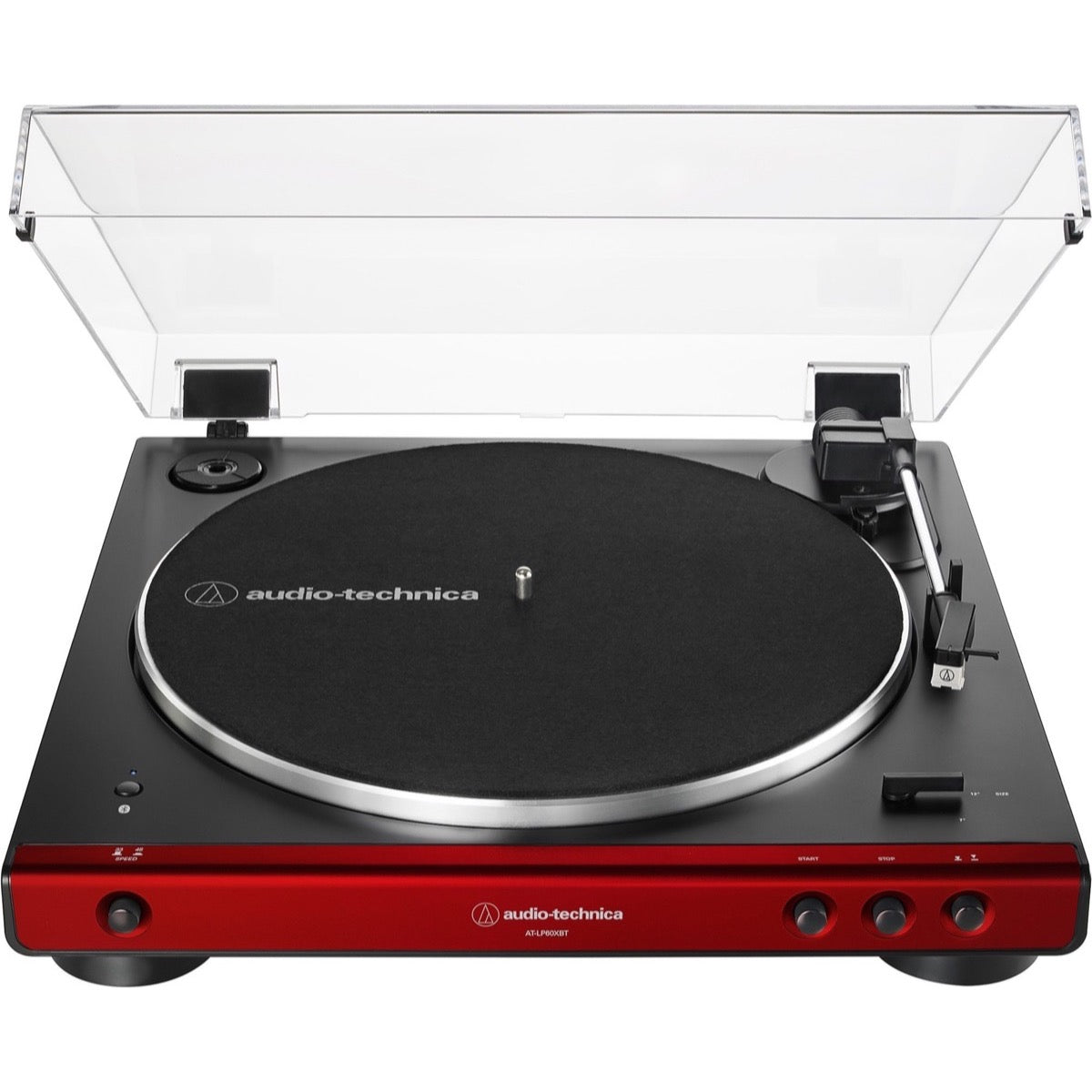 Audio-Technica AT-LP60XBT Belt-Drive Bluetooth Turntable, Red