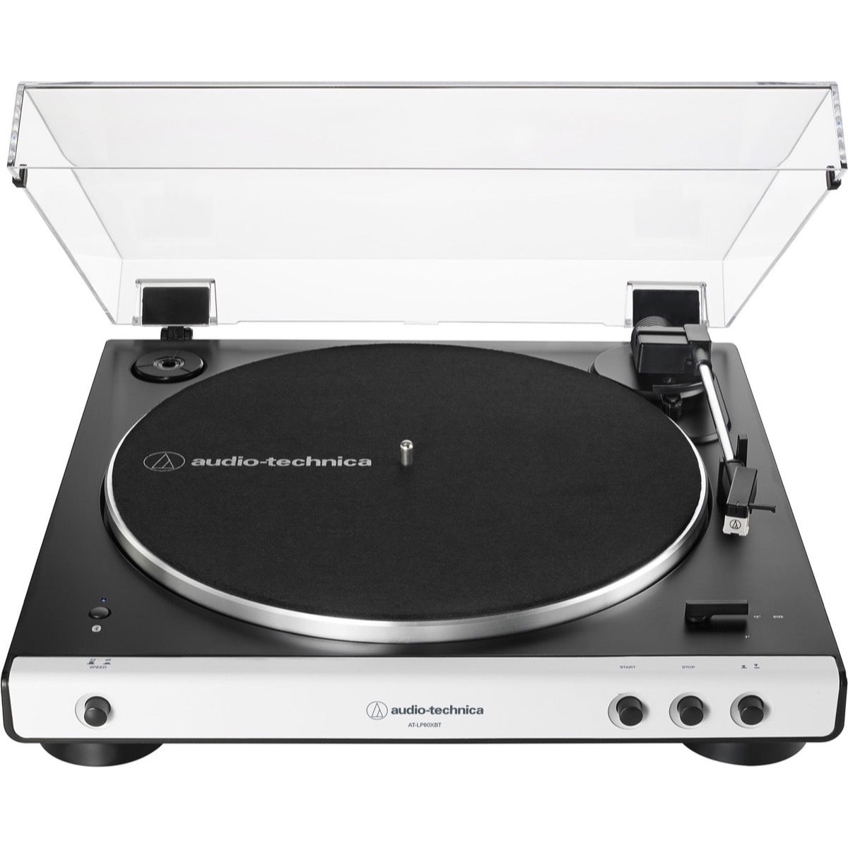 Audio-Technica AT-LP60XBT Belt-Drive Bluetooth Turntable, White
