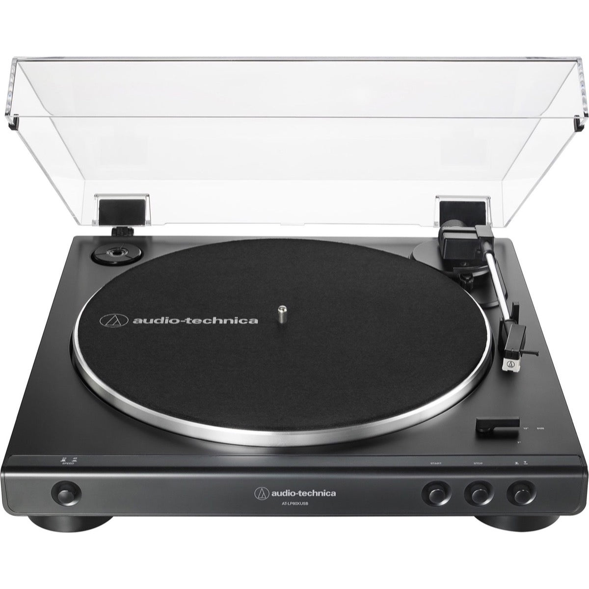 Audio-Technica AT-LP60XUSB Belt-Drive Turntable, Black