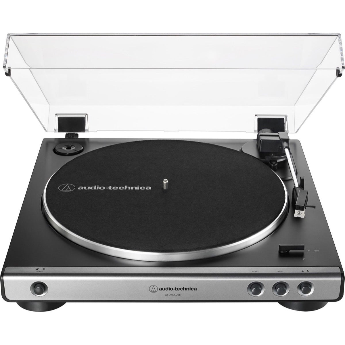 Audio-Technica AT-LP60XUSB Belt-Drive Turntable, Gun Metal