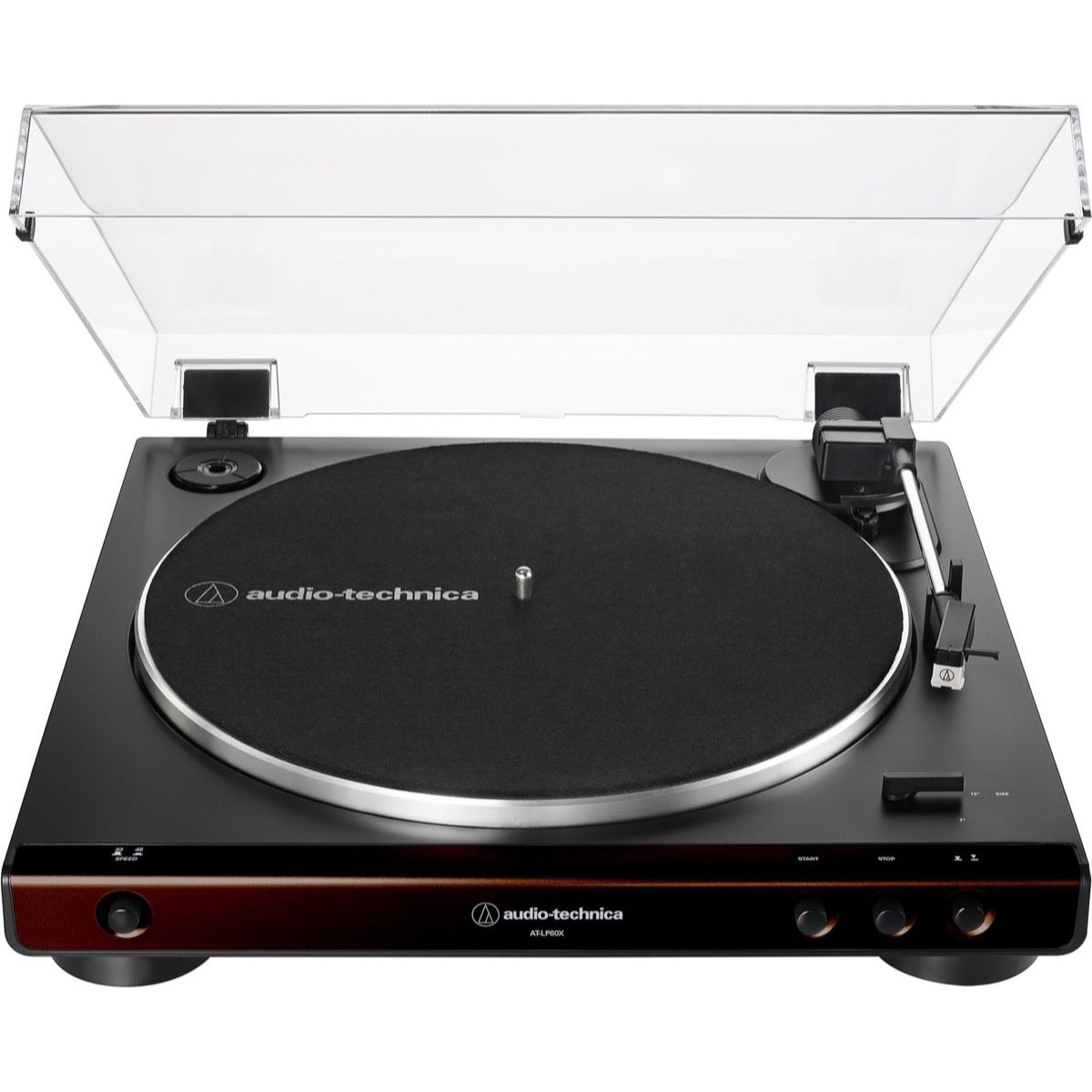 Audio-Technica AT-LP60X Belt-Drive Turntable, Brown