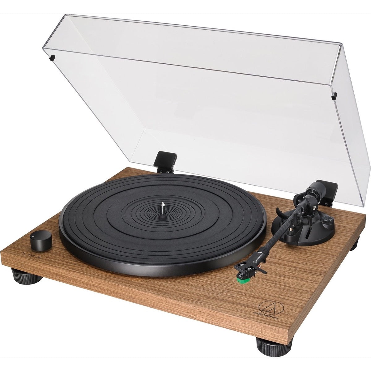 Audio-Technica AT-LPW40WN Wood Base Belt-Drive Turntable