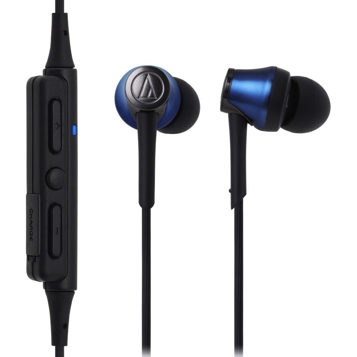 Audio-Technica ATH-CKR55BT Bluetooth In-Ear Headphones, Blue
