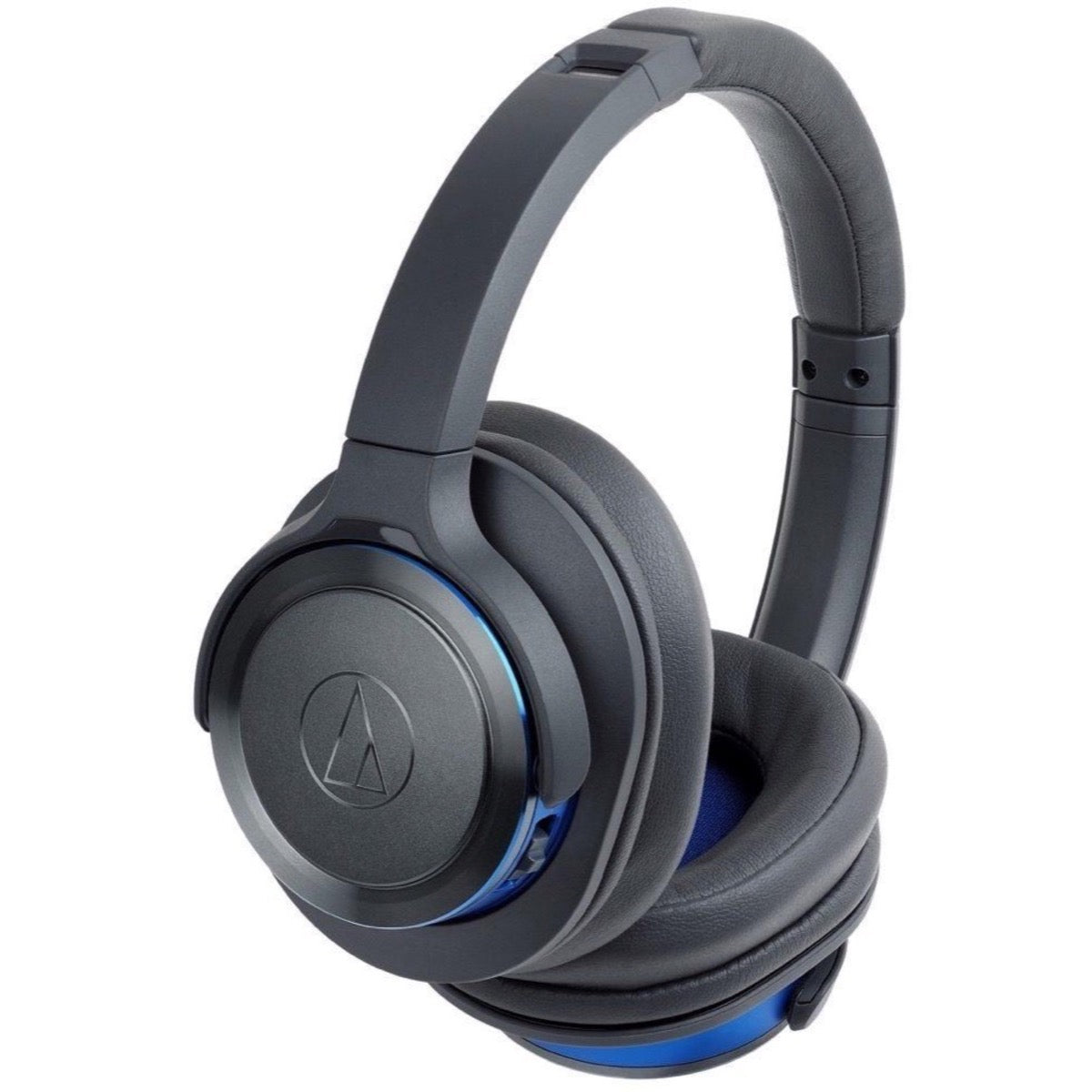 Audio-Technica ATH-WS660BT Wireless Bluetooth Headphones, Gray Matte and Blue