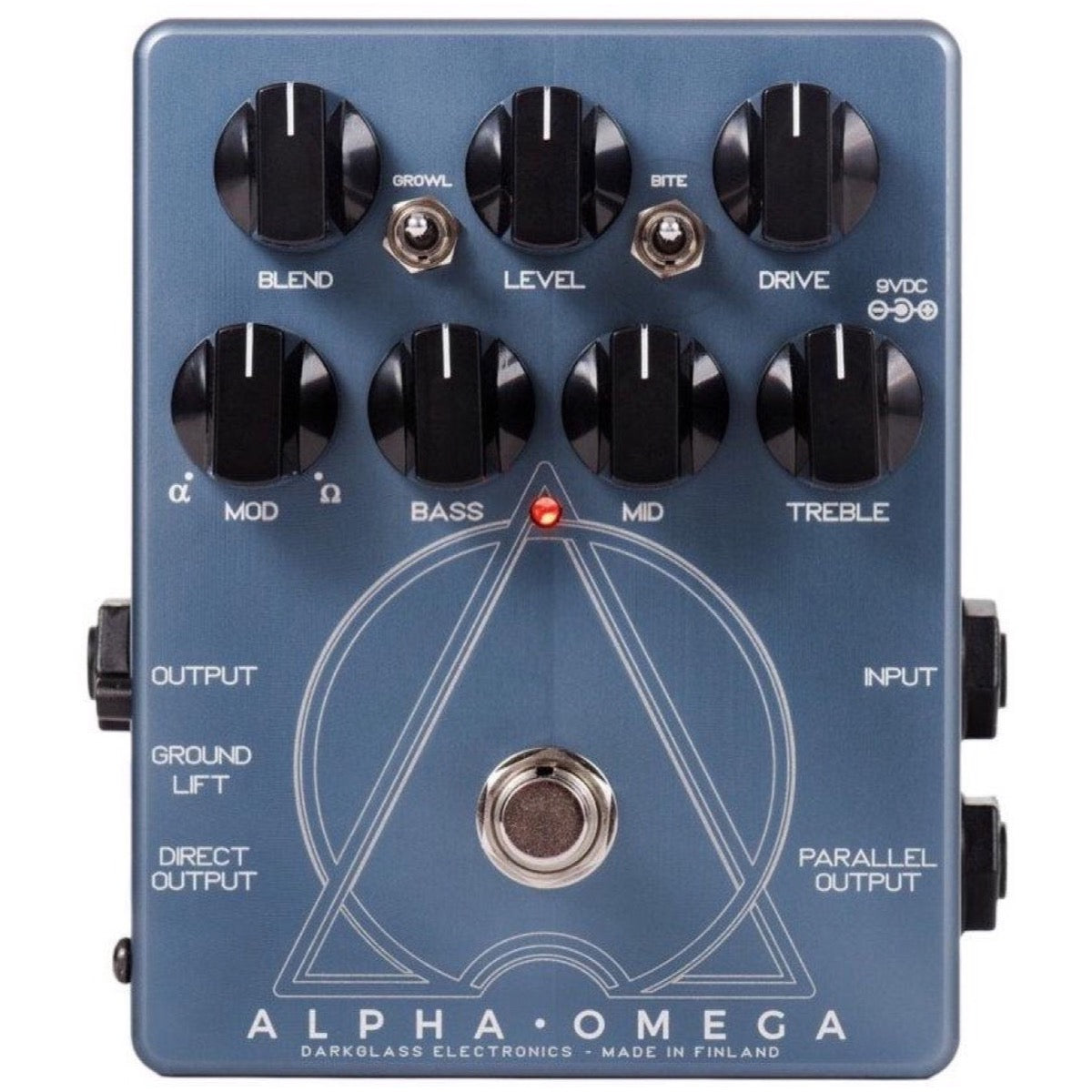 Darkglass Alpha Omega Bass Distortion and Overdrive Pedal