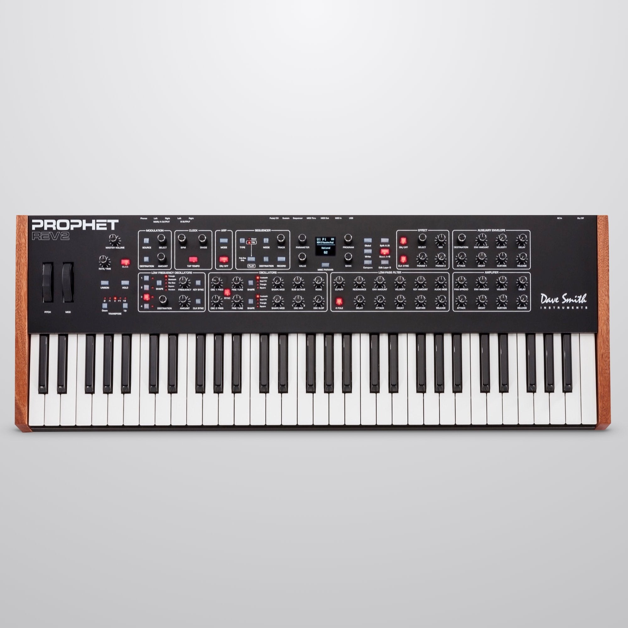 Dave Smith Prophet Rev2-08 8-Voice Analog Synthesizer, 61-Key