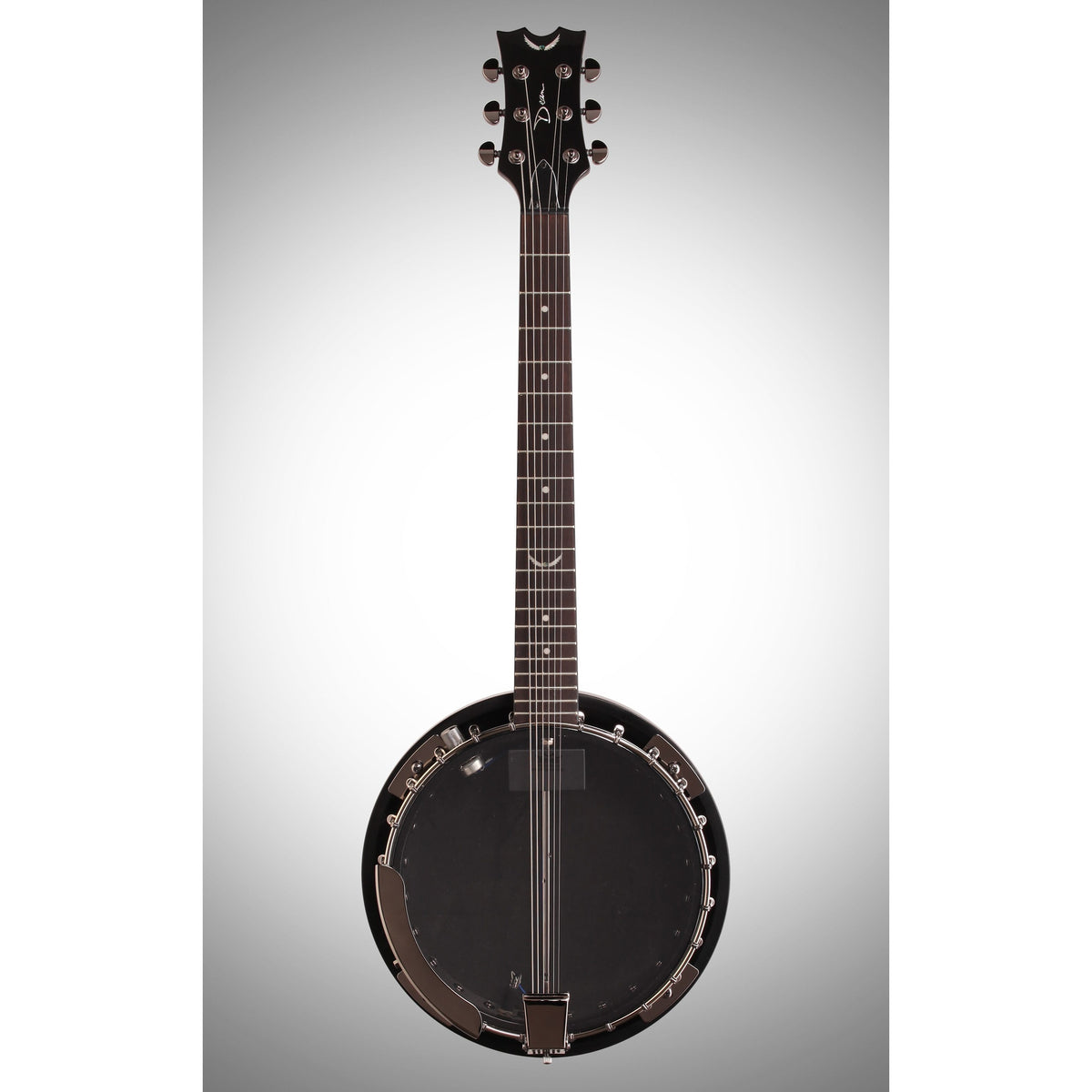 Dean Backwoods 6 Electric Banjo with Pickup, Black Chrome