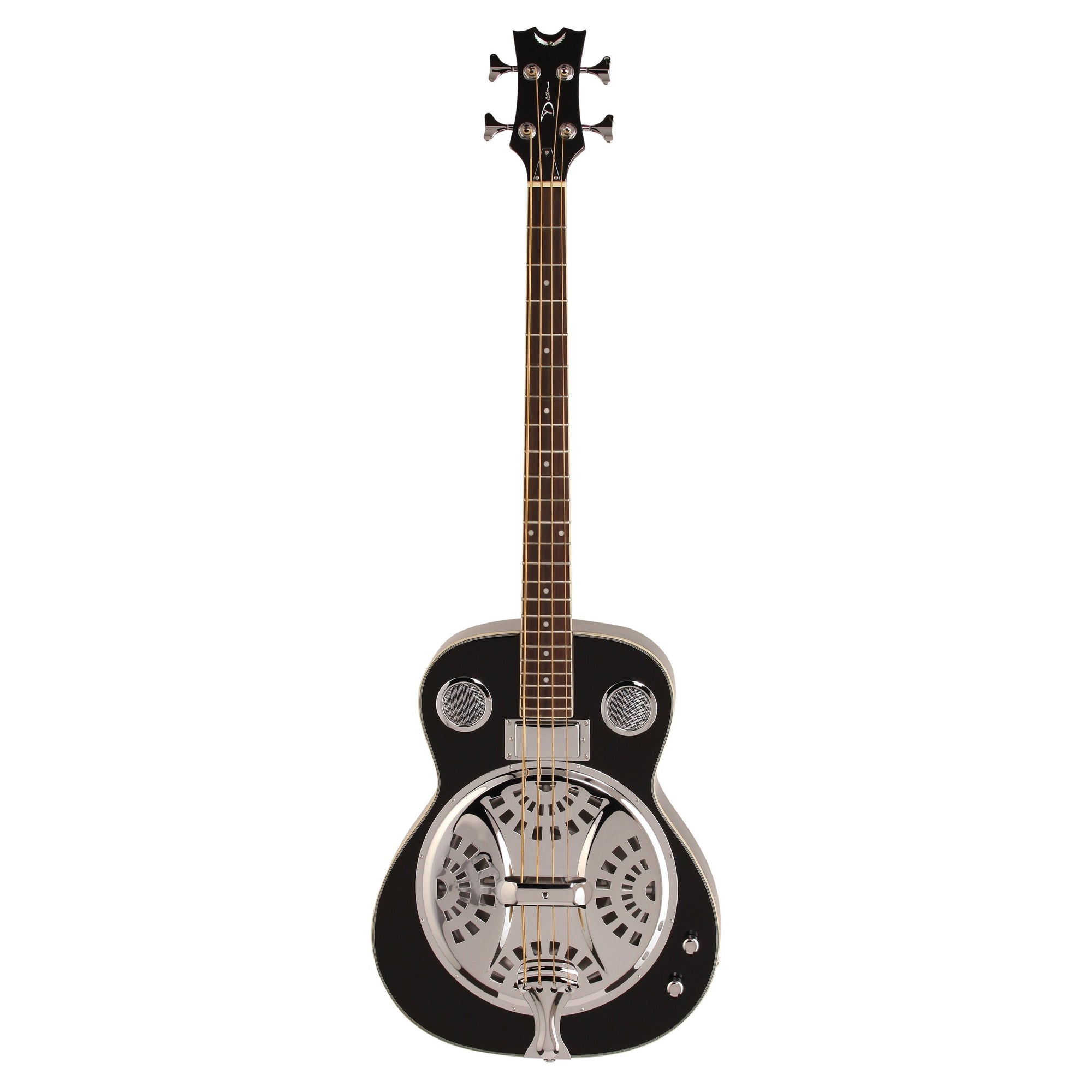 Dean Resonator Acoustic-Electric Bass, Classic Black