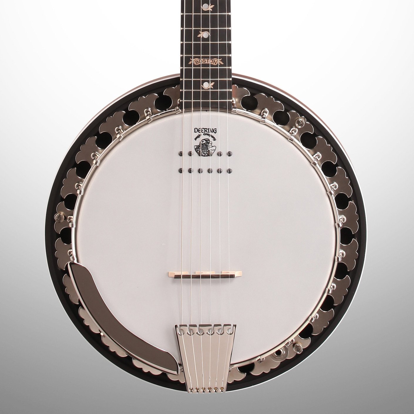 Deering Boston USA Acoustic-Electric Banjo Resonator Guitar, 6-String (with Case)