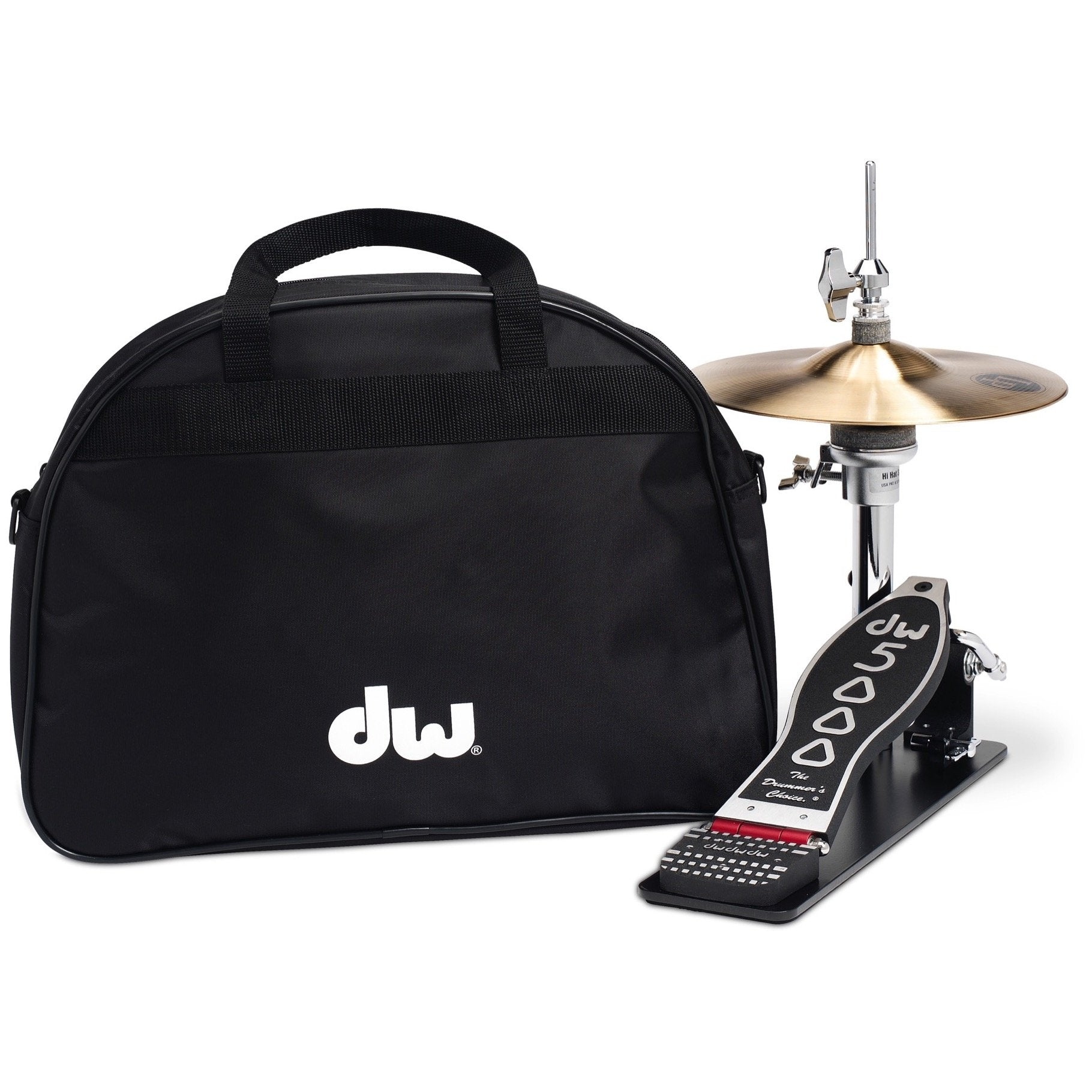 Drum Workshop 5500 Low Boy Hi-Hat Pedal with Cymbals