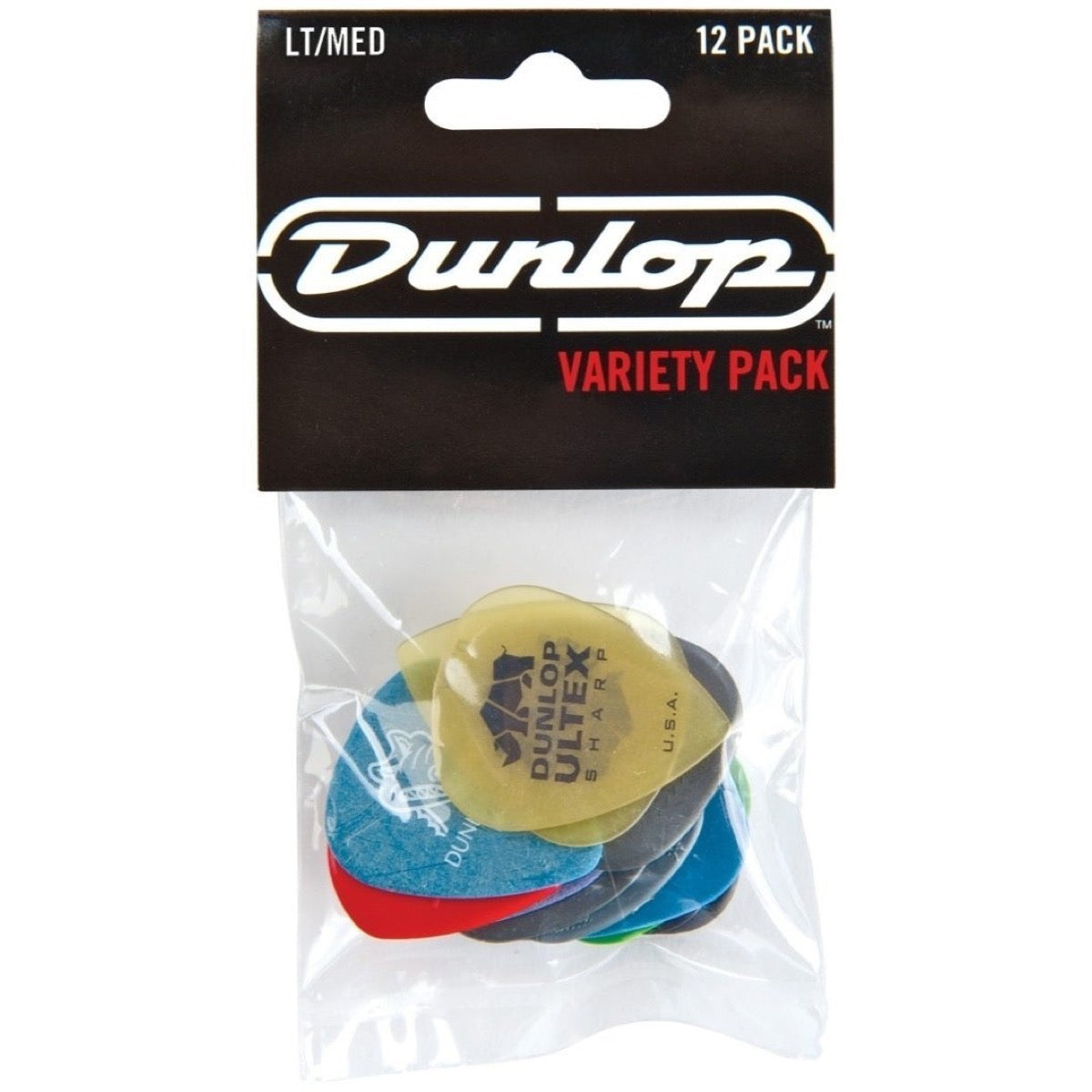 Dunlop Pick Variety Pack, PVP101, 12-Pack, ThinMedium