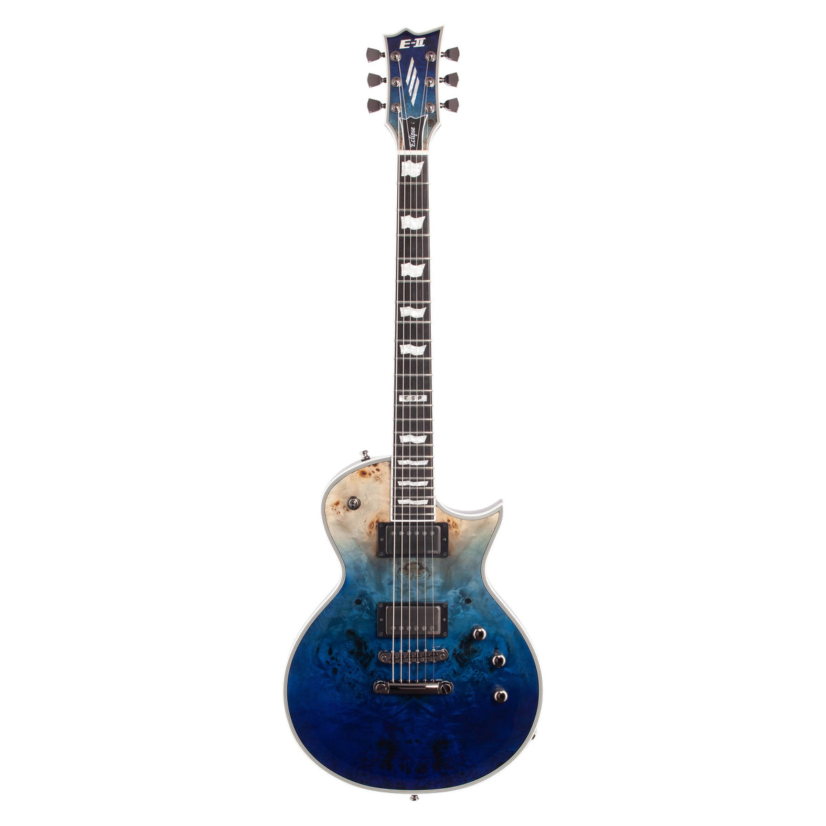 ESP E-II Eclipse BM Electric Guitar (with Case), Blue Natural Fade